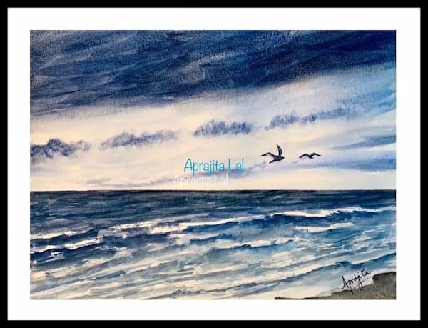 """""""The Retreat"""" in Watercolors by Aprajita Lal (Original 10.5x8)"""