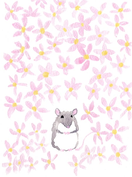 Sweet Flower Mouse Art | East End Arts