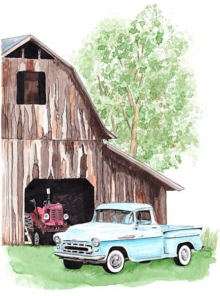 Truck Barn #3 Print Art | East End Arts
