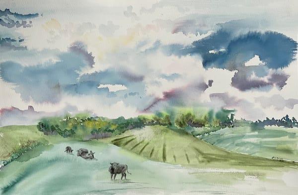 Summer Storm Warning Art | Color Splash Ranch