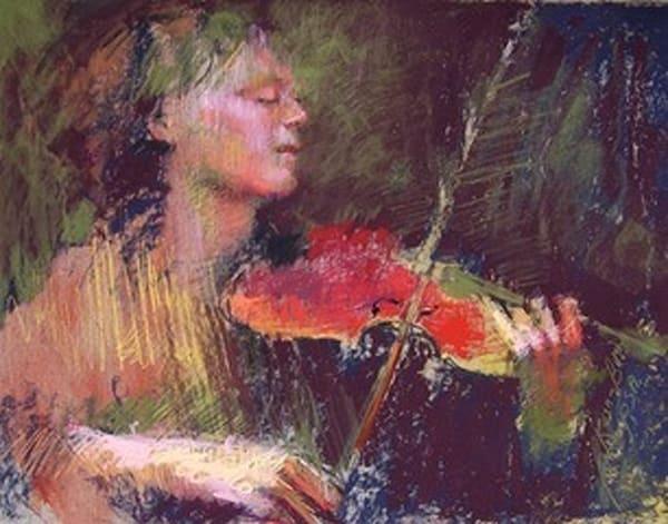 Red Violin Art | Bkern Fine Art
