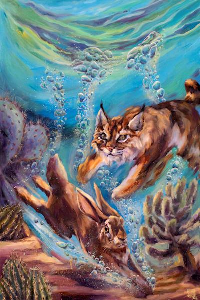 High Tide: Chasing Bubbles Art | Ans Taylor Art