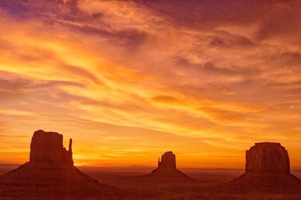 """""""Monument Valley Sunrise"""" fine art photograph by Fred Neveu."""