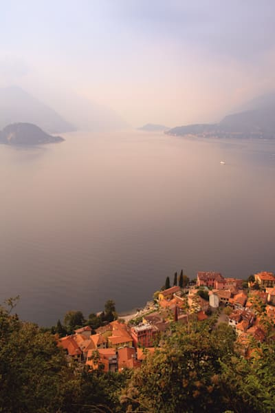 Aerial view of Varenna, Italy