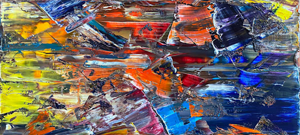 Flow State abstract oil painting