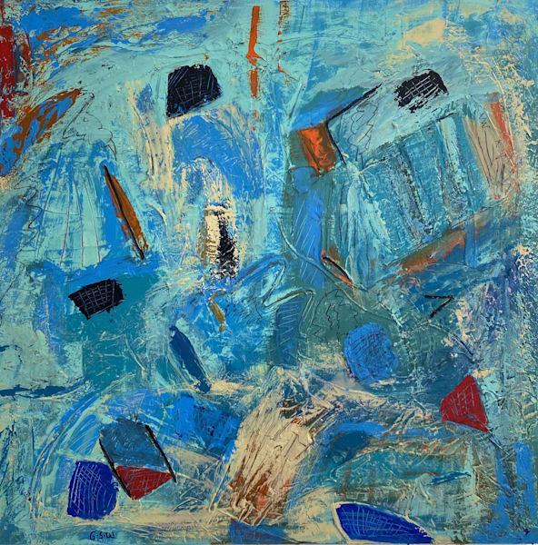 """Turkish Twist"" Original 30"" X 30"" Art   Garry Scott Wheeler Artwork LLC"