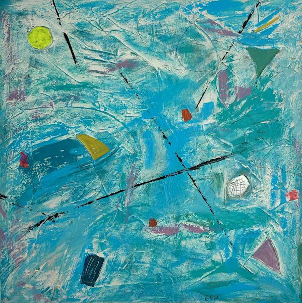 """""""Like An Egyptian"""" Original 30"""" X 30"""" Art   Garry Scott Wheeler Artwork LLC"""