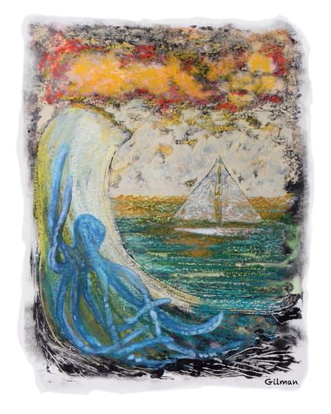 Octopus & Sailboat   Print Art | Emily Gilman Beezley LLC