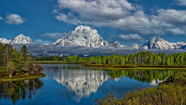 """""""Mount Moran at Oxbow Bend"""" fine art photograph by Fred Neveu."""