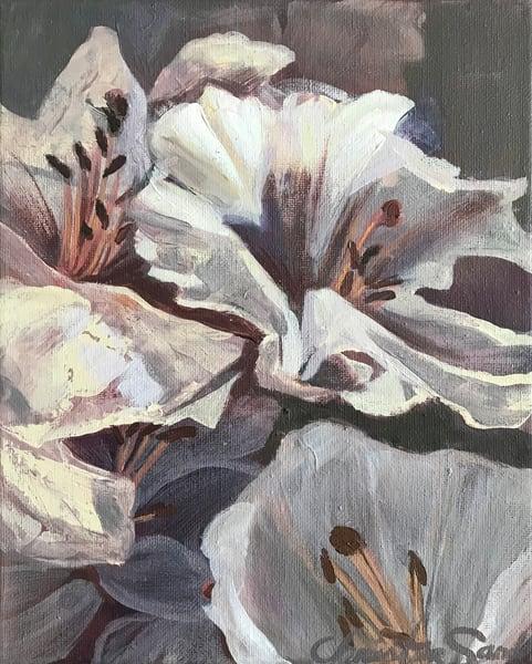 Purple Blooms Art   Christina Sandholtz Art
