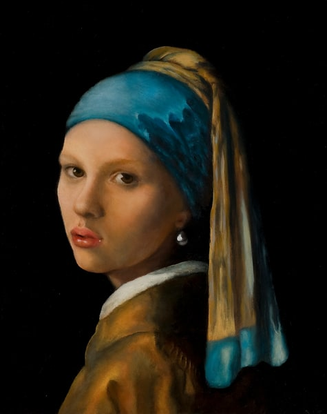 Pearl by Nancy Conant is after Vermeer Girl With The Pearl Earring