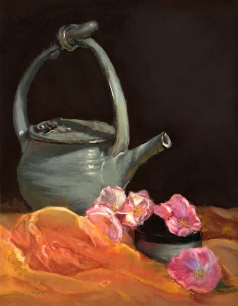 Tea Time by Nancy Conant teapot painting