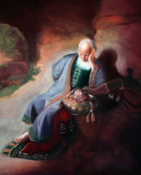 Rembrandt Jeremiah Lamenting Over the Destruction of Jerusalem old master reproduction by Nancy Conant
