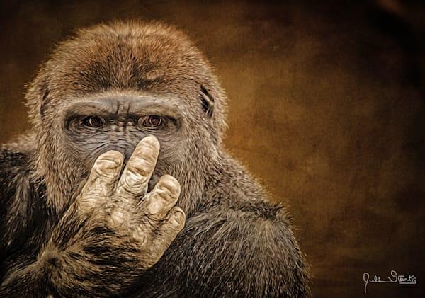 """Flipping Off"" Gorilla   Painted Photography Art   Julian Starks Photography LLC."