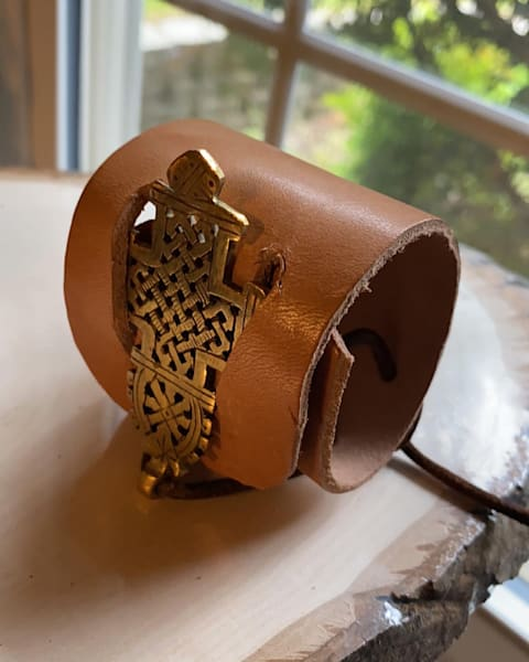 Ethiopian Cuff Thick Leather Art | Anonymous Art Studios