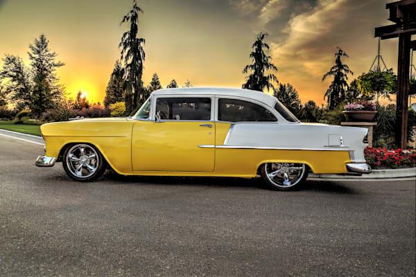 55 Chevy Sunset Photography Art | Christensen Photography