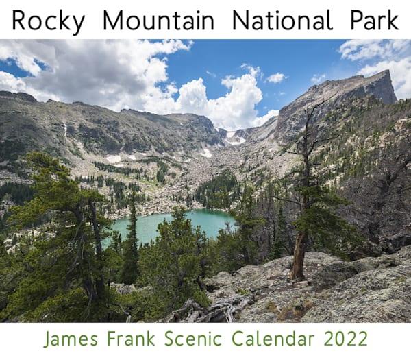 A unique 2022 scenic calendar of Rocky Mountain National Park in Colorado.