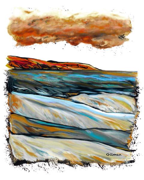 Cumulus Congestus   Orange   Print Art | Emily Gilman Beezley LLC