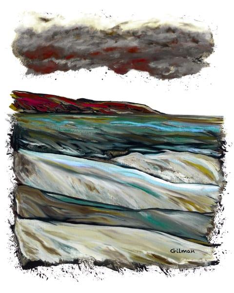 Cumulus Congestus   Green   Print Art | Emily Gilman Beezley LLC