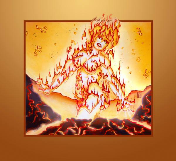 Fire Elemental Art | Melissa A Benson Illustration