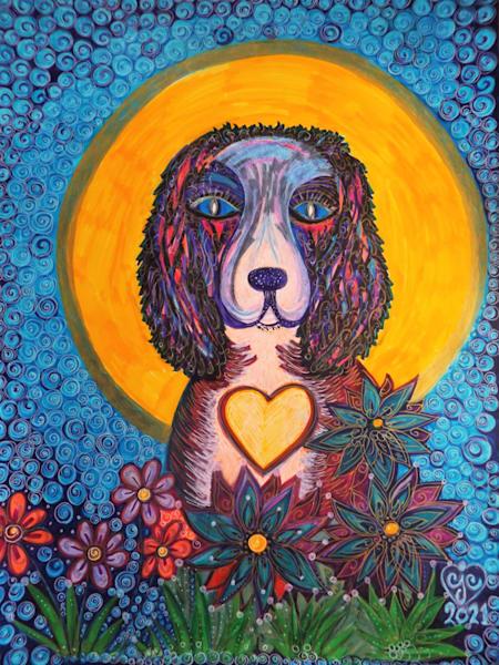 Springer Spaniel's Song Art   Cynthia Christensen Art
