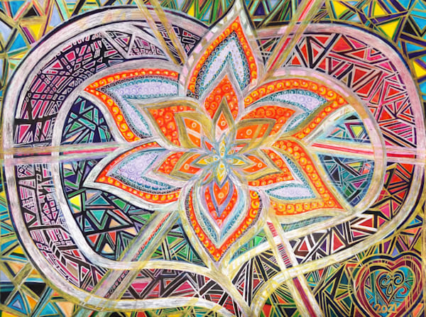 Flower's Heart Art   Cynthia Christensen Art