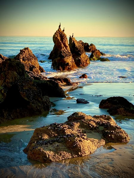 California, beach, picturesque, aqua, blue, green, rocky, shoreline, Malibu, jackierobbinsstudio, photographicprints