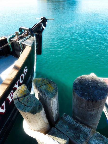boats, surveyor, vessel, ocean, docked, catchoftheday, aqua, green, MorroBay, California, jackierobbinsstudio, photographicprints