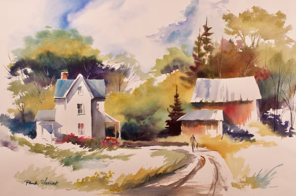 Watercolor   Houses and Barns