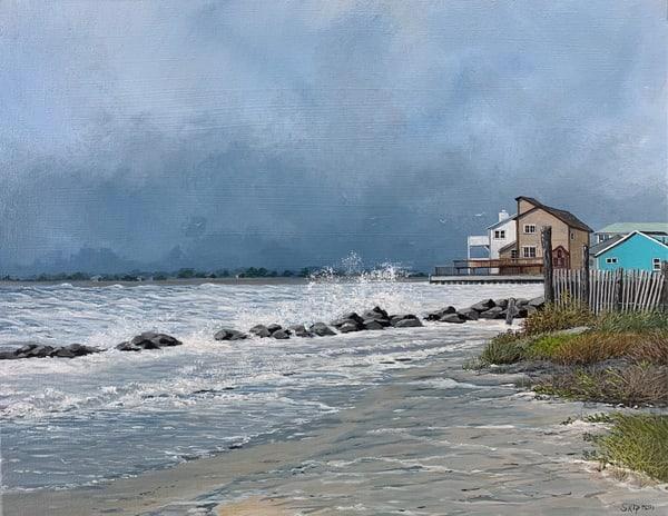 St. Augustine Stormy Beach Art   Skip Marsh Art