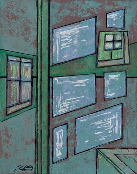Windows   Green Gaze, 2021 Art   Kim P. Bartholomew