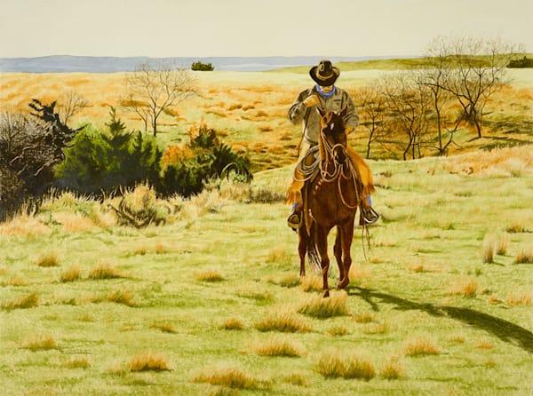 "Raymond Wattenhofer Original Art Watercolor ""Hunting For Tracks"""