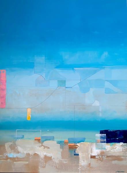 Caribbean Blue Art   MANTHA DESIGN