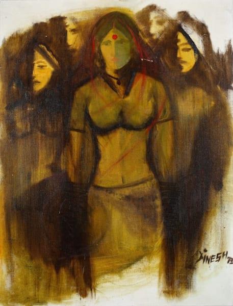 Choice Of Partner (Original) Art | Dinesh Doshi Art