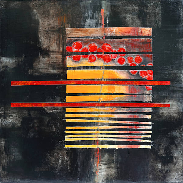 Elegy for Old Art, Tomatoes - Original Abstract Painting | Cynthia Coldren Fine Art