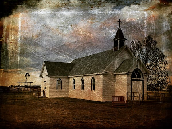 Wyoming Plains Church Photography Art   Christensen Photography