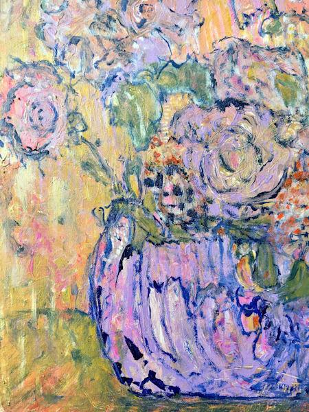 Lilac Vase Art   Annie Lockhart Art