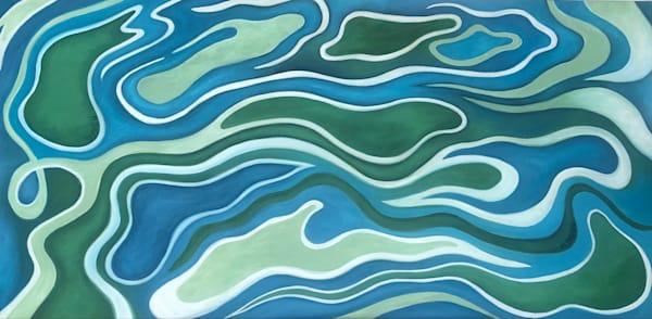 """Fluidity Imagined"" Oil On Canvas Art | Margaret Biggs Fine Art"