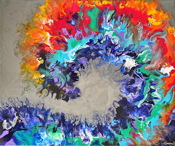 Rainbow Wave Art   Samina Hooda Art Gallery