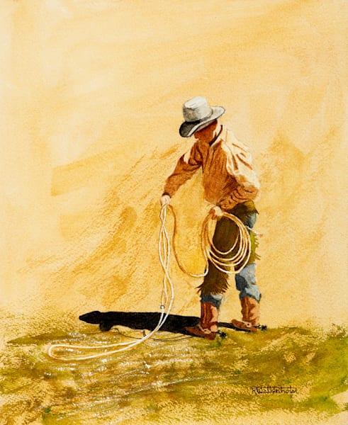 "Raymond Wattenhofer Original Art Watercolor ""Building A Loop"""