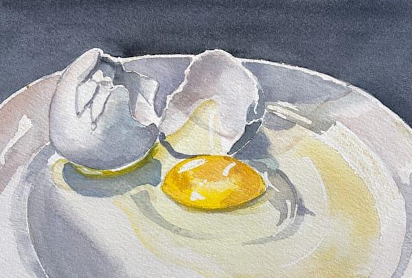 Egg On A Plate Art   Katherine Rodgers Fine Art