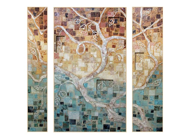 Tree of Life Triptych by Sharon Tesser