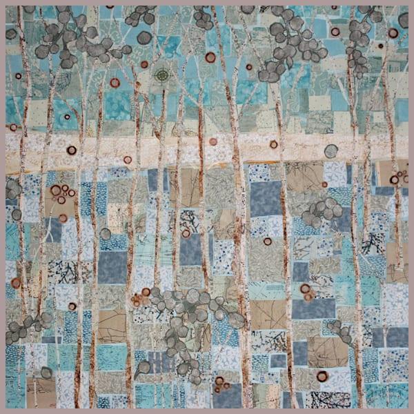 Whispering Woods is fiber art by Sharon Tesser