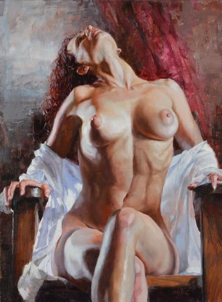 Seated, Looking Up by Eric Wallis