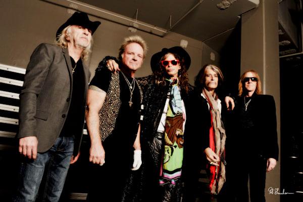 Aerosmith group photograph by Rob Shanahan