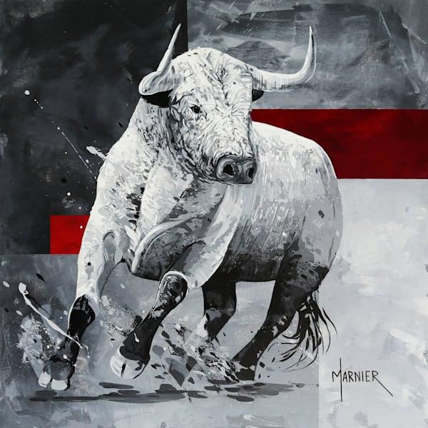Bovine art, Bull art, Original painting, Marnier painting