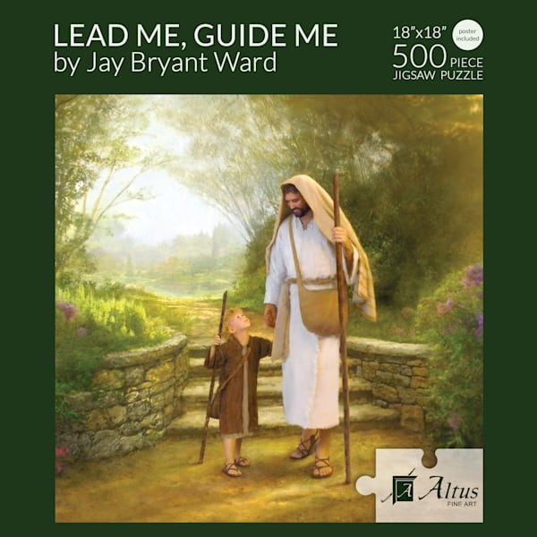 Lead Me, Guide Me 18x18 Puzzle 500 Pieces By Jay Bryant Ward | Cornerstone Art