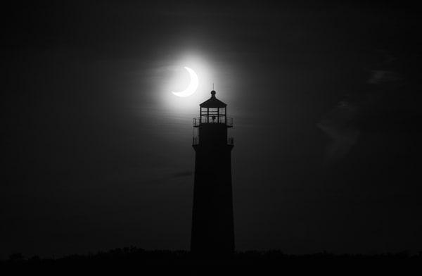 Eclipse Over Sankaty Light  Photography Art | Kit Noble Photography