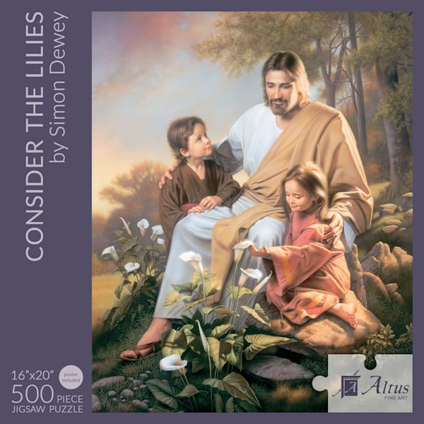 Consider The Lilies 16x20 Puzzle 500 Pieces By Simon Dewey   Cornerstone Art