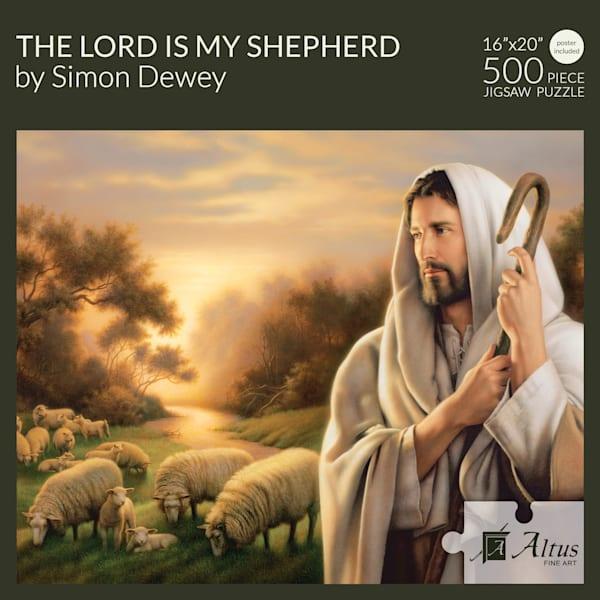 The Lord Is My Shepherd 16x20 Puzzle 500 Pieces By Simon Dewey   Cornerstone Art